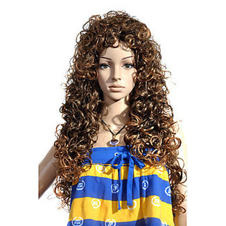 Top Grade Quality Capless Extra Long Synthetic Brown Curly Hair Wig – WigSuperDeal.com | African American Wigs | Scoop.it