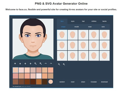 Face.co - Online Vector Avatars Generator for Your Site | Communication Pro sur internet | Scoop.it