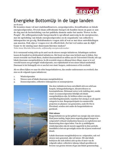 Nieuwe nuts in Nederland - Energie+, kennisplatform lokaal duurzaam opgewekt | energieke samenleving | Scoop.it