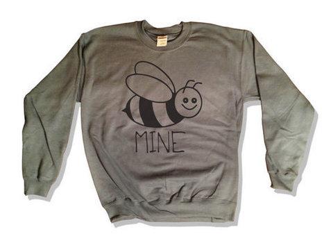 Bee Mine Valentines Day Gift Sweatshirt 011 Boyfriend Girlfriend VDay Be Valentine Love Hug Kiss Cute 562 Charcoal   Mindfulwear Collection   Scoop.it