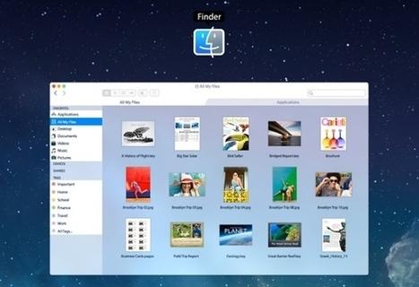 Nouveau concept d'OS X avec le design d'iOS 7   Graphic Design   Scoop.it