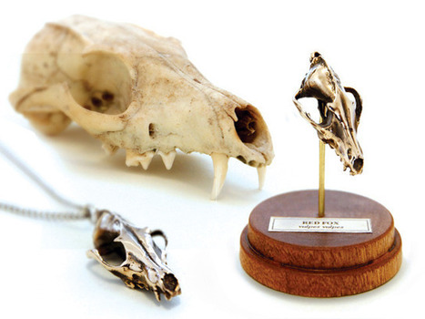 FIRE & BONE: Tiny, Digitally Captured, Metal Animal Skulls | Digital Design and Manufacturing | Scoop.it