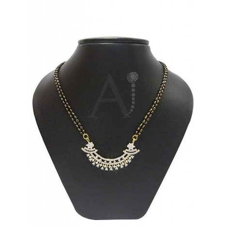 Elegant floral mangalsutra set | American Diamond Jewellery | Scoop.it
