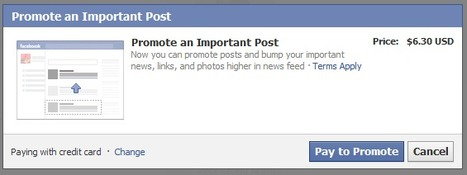 Facebook Now Allows Personal Accounts to Promote Posts | Digital-News on Scoop.it today | Scoop.it