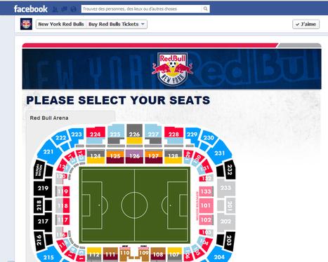 Les New York Red Bulls deviennent la 1ère équipe pro a vendre des billets de matchs via une app Facebook | Basket & Marketing | Scoop.it