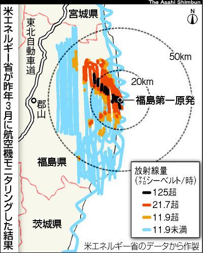 米の放射線実測図、政府が放置 原発事故避難に生かさず:朝日新聞 2012年6月18日 | Genpatsu | Scoop.it