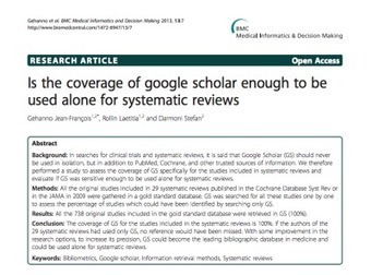 "What's Wrong With Google Scholar for ""Systematic"" Reviews 