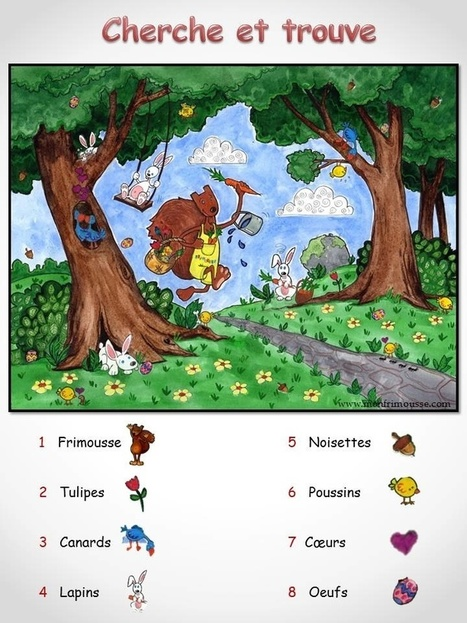 Cherche et trouve à imprimer - Jeux à Imprimer | FLE enfants | Scoop.it