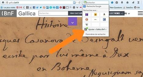 Intégrez Gallica à votre navigateur | Le blog de Gallica | Education & Numérique | Scoop.it