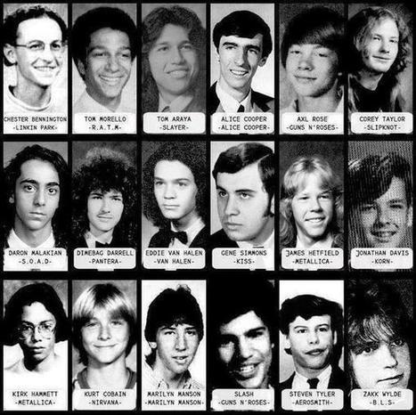 Twitter / HistoryInPix: Yearbook pictures of rock and ... | Music | Scoop.it