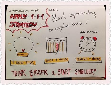 Experimenting Habit: Apply 1-1-1 Strategy #112 | Nextcreativityetc | Scoop.it