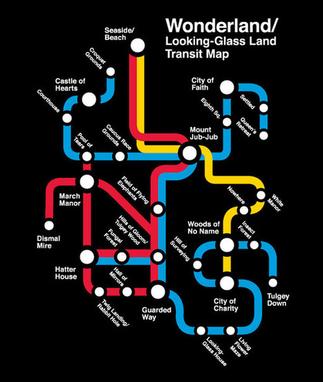 Alice in Wonderland as a Subway Map | Voices in the Feminine - Digital Delights | Scoop.it