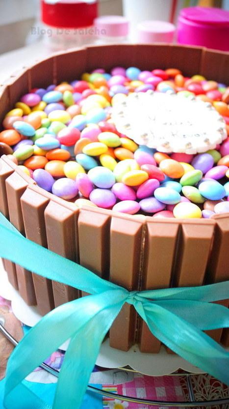 Gâteau Au Chocolat Kit Kat & Smarties | Recette Dessert Gâteau & Cake | Scoop.it