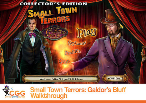 Small Town Terrors: Galdor's Bluff Walkthrough: From CasualGameGuides.com | Casual Game Walkthroughs | Scoop.it