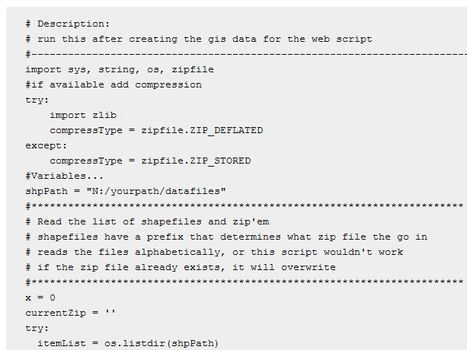 Zipping files inpython | ArcPY - Python | Scoop.it