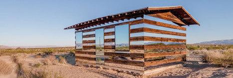 Une cabane invisible en plein désert | Weekend-Glamping.com | Scoop.it
