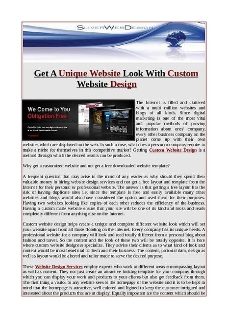 Get a unique custom web design   Web Design.net   Scoop.it