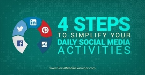 Four Steps to Simplify Your Daily Social Media Activities | Marketing with Social Media | Scoop.it