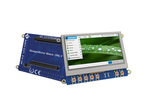 4.3 LCD Cape for BeagleBone Black ‐ Touch Display | Raspberry Pi | Scoop.it