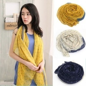 Navy Little Anchor Print Infinity Scarves in ByGoods.com | fashion accessories | Scoop.it