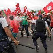 La police disperse une manifestation de paysans à Brasilia   sophieB   Scoop.it