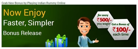 Rummy New Bonus - Play Indian Rummy Online to Get Extra Bonus at Classic Rummy | Rummy Card Games | Scoop.it