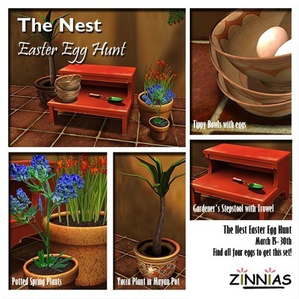 Dreamer's Virtual World: Zinnias @ The Nest Easter Egg Hunt | Second Life Findings | Scoop.it
