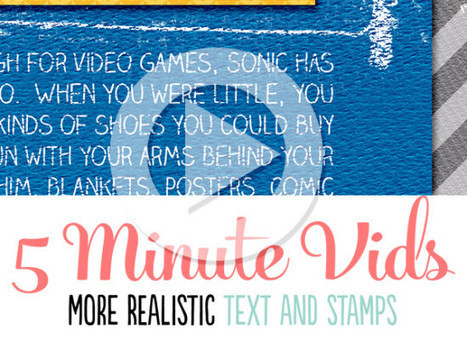 Video Tutorial: Creating More Realistic Text and Stamps | Traci Reed Designs | Scrapbooking | Scoop.it