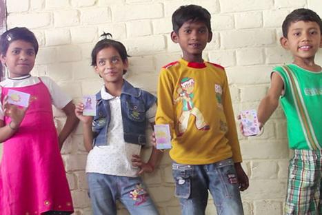 Des cartes de visite dessinées par des enfants, les fonds reversés pour l'achat de matériel scolaire...   Communication-publicite   Scoop.it