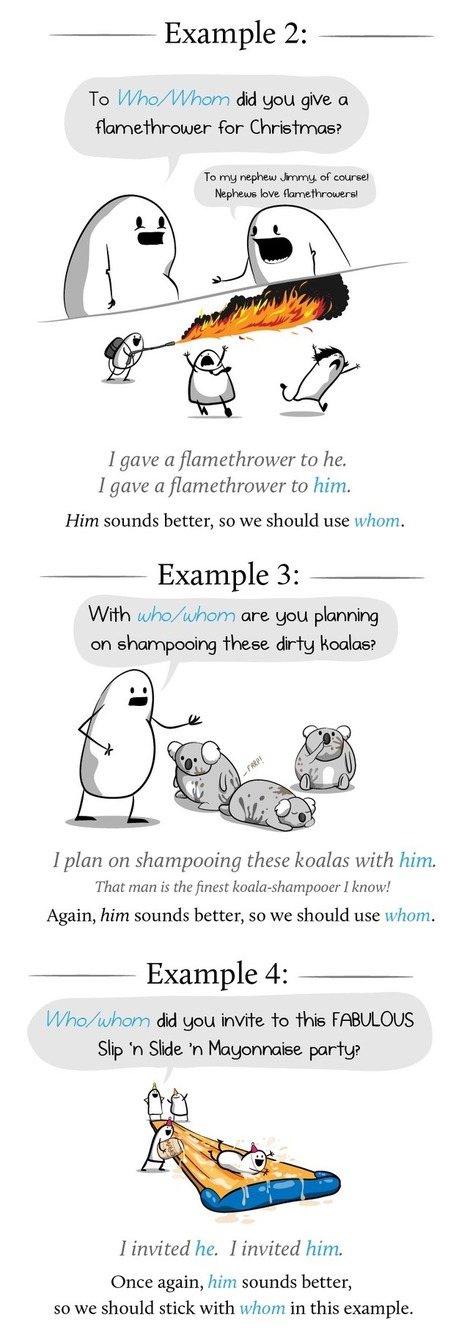 How and why to use whom in a sentence - The Oatmeal | Culture | Scoop.it