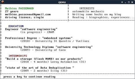 My resume in an Operating system | Embedded systems | Scoop.it