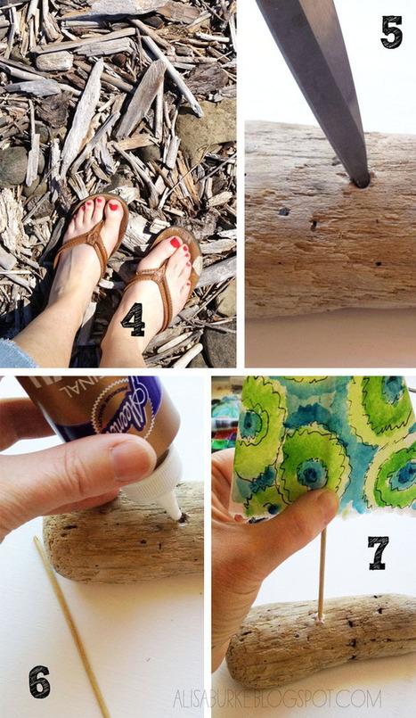 alisaburke: driftwood boats | mixed media art | Scoop.it