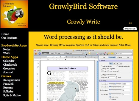 Growly Bird Mac Word Processing Program | Educational Sites | Scoop.it