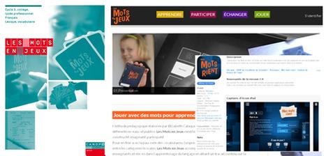 Les Mots en Jeux  [Livre numérique, site web éducatif collaboratif, application] @reseau_canope   Vie numérique  à l'école - Académie Orléans-Tours   Scoop.it