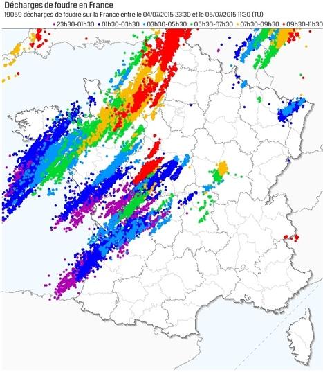 Suivi des orages du 5 juillet 2015 | Chronique d'un pays où il ne se passe rien... ou presque ! | Scoop.it