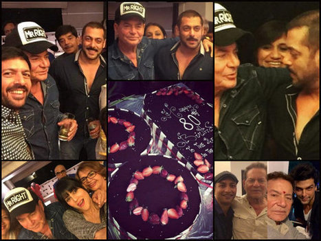 In Pics: Salman Celebrates Dad Salim Khan's 80th B'day, With Ex Girlfriend & Other Celebs! | Celebrity Entertainment News | Scoop.it