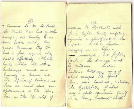 London War Diary: December 30th 1940 (cont) Christmas tree on the steps of St Paul's Cathedral marks the spirit of the Blitz   London War Diary. Original written pages. 1940   Scoop.it
