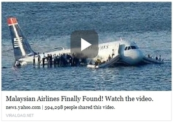 Malaysian Airline Finally Found Hoax | Aviation News Feed | Scoop.it