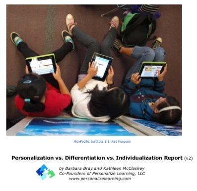 Updated Report on Personalization vs Differentiation vs Individualization Chart | Personalize Learning (#plearnchat) | Scoop.it