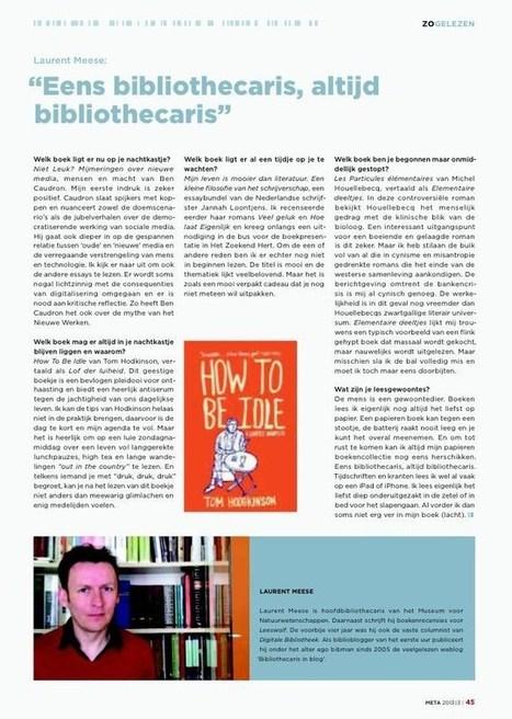 Eens bibliothecaris, altijd bibliothecaris - Open Bibliotheken | Bibliotheek 2.0 | Scoop.it