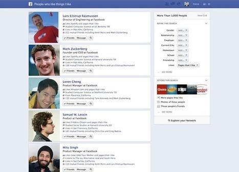 Facebook lance Le Graph search : Un moteur de Recherche Social | e-Strategies & all web Strategy tools | Scoop.it