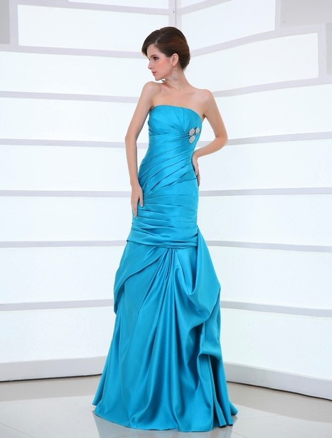 Strapless Floor Length Sleeveless Trumpet Mermaid Evening Prom Dress Oho0094 | Fashion Dresses Online | Scoop.it