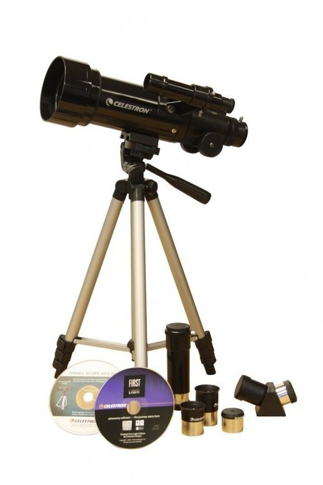 Celestron Travel Scope 70 Refractor Outfit with additional 4mm Eyepiece and 3x Barlow Lens | The Sky View | Scoop.it