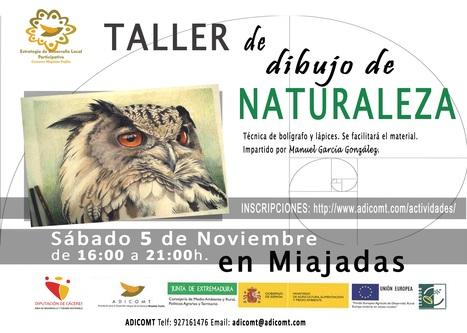 Adicomt organiza talleres de dibujo de la naturaleza   Comarca Miajadas-Trujillo   Scoop.it