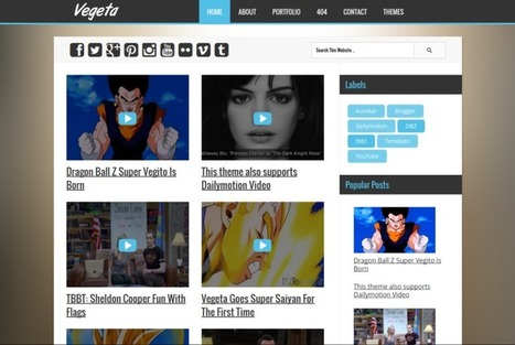 Vegeta Video Blogger Template For YouTube & Dailymotion Videos | Blog Addons | Scoop.it