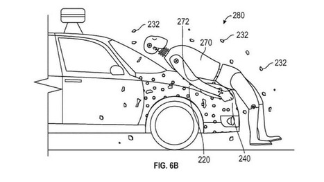 Google patents safety system that glues pedestrians to cars | Location Is Everywhere | Scoop.it
