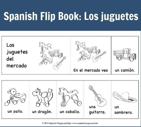 Flip Book in Spanish: Los juguetes - Spanish Playground | Preschool Spanish | Scoop.it