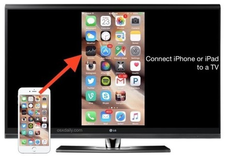 How to Connect an iPhone or iPad to a TV - OSXDaily | Teaching and Learning English through Technology | Scoop.it