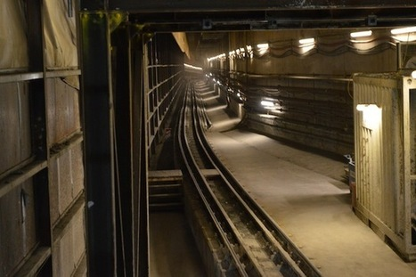 Catching A Train Through A Crossrail Tunnel   Building and construction news in and around London   Scoop.it