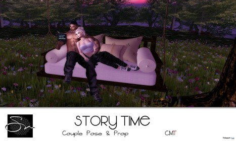 Story Time Couple Pose September 2016 Group Gift by Something New | Teleport Hub - Second Life Freebies | Second Life Freebies | Scoop.it